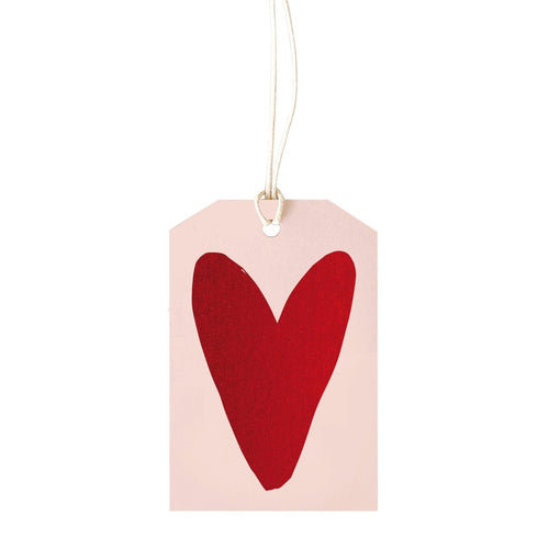 Gift Tag - Red Foil Heart