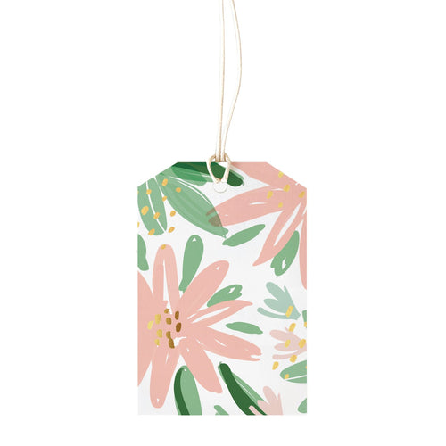 Gift Tag - Peach Flowers