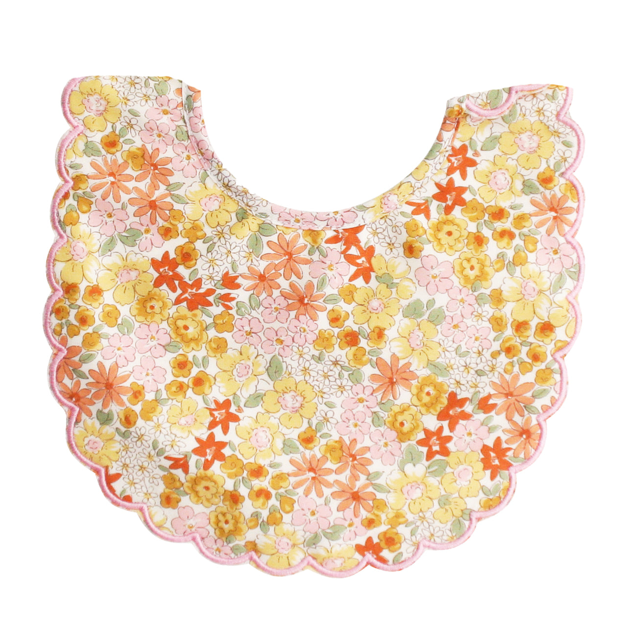 Scallop Edge Bib - Sweet Marigold