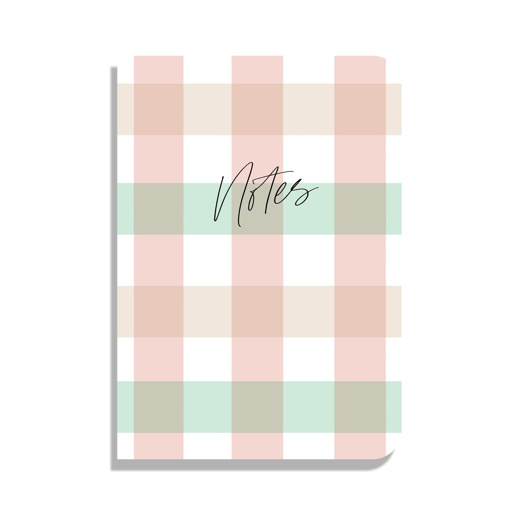 Gingham Set Of 3 Notebooks