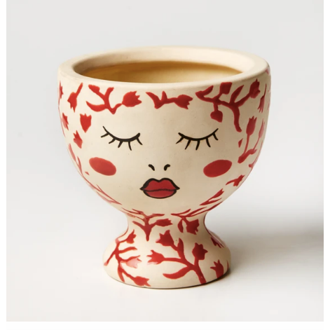 Alyssa Face Vase - Red