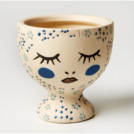 Alyssa Face Vase - Blue