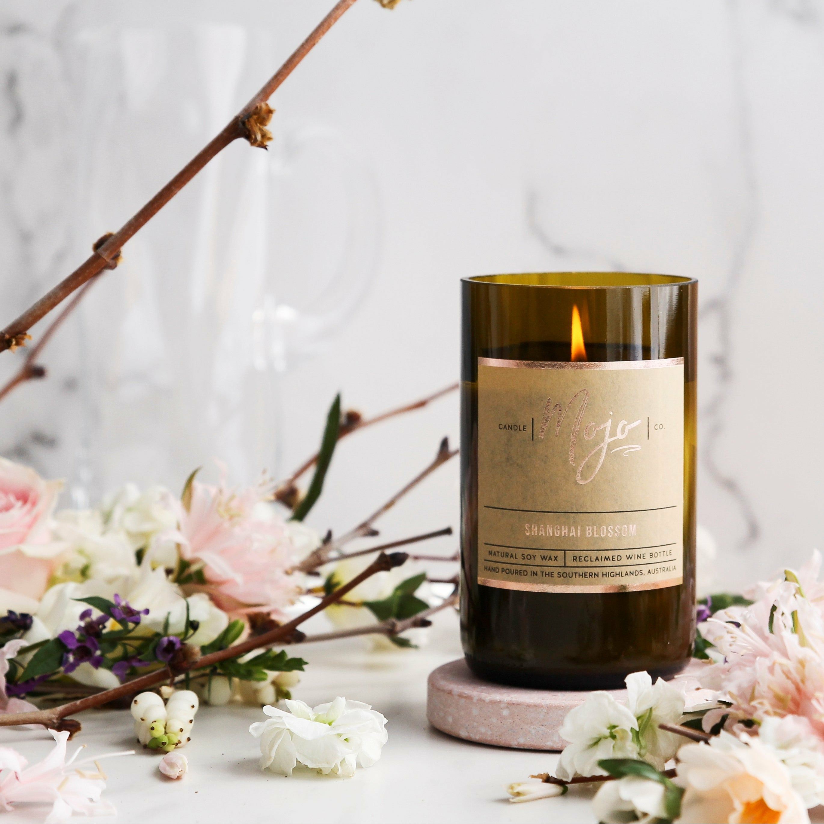 Wine Bottle Candle - Limited Edition - Shanghai Blossom