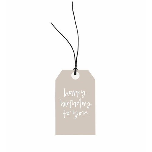 Gift Tag - Happy Birthday To You.