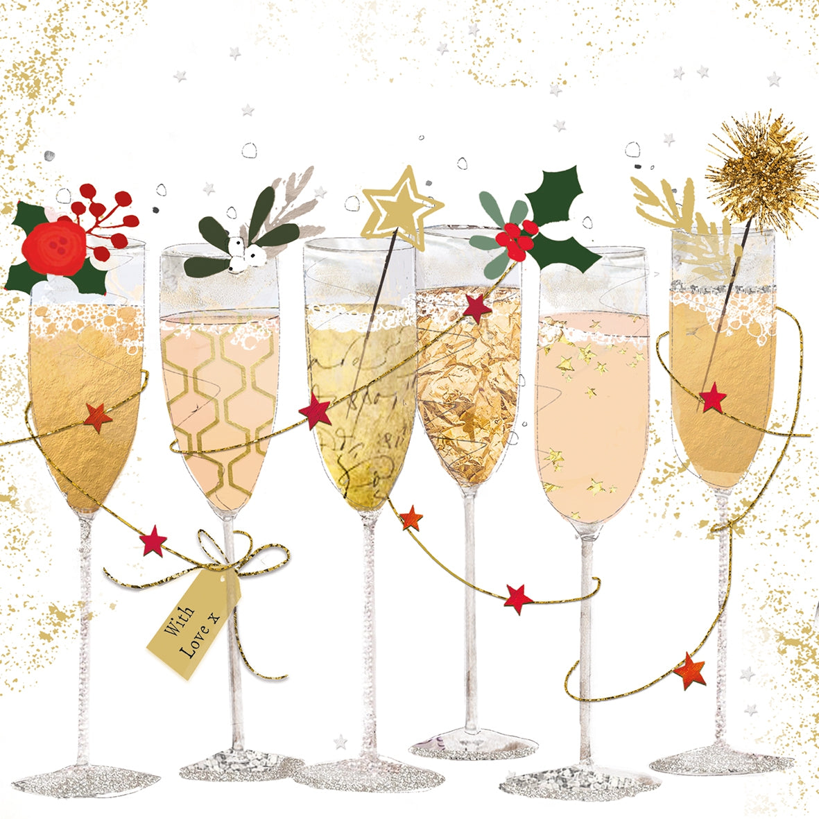 Champagne Glasses Festive Napkins - 2 sizes