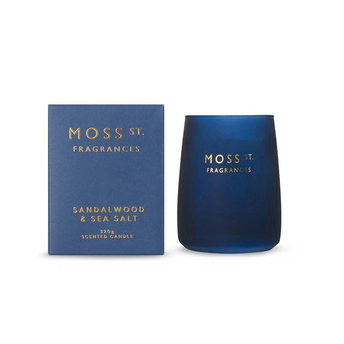 Moss St. Fragrances Sandalwood & Sea Salt Candle