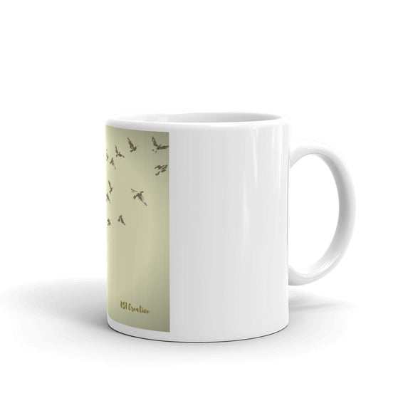 Mug with Bird Graphic Design