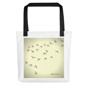 Tote bag with Bird Graphic