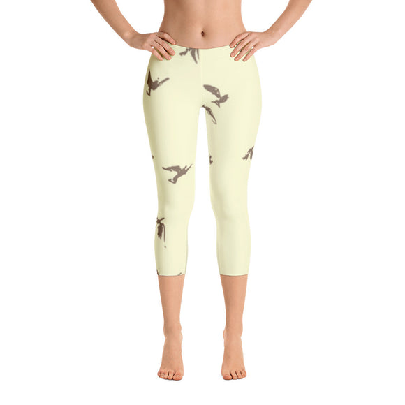 Capri Leggings with Bird Graphic