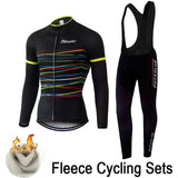 Phtxolue Winter Thermal Fleece Cycling Clothing Wear Bike MTB Jerseys Cycling Sets 2016 Men's Cycling Jersey Sets QY069