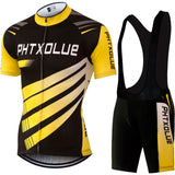 Phtxolue Cycling Clothing Cycling Sets Bike Clothing/Breathable Men Bicycle Wear Spring Summer Short Sleeve Cycling Jerseys sets