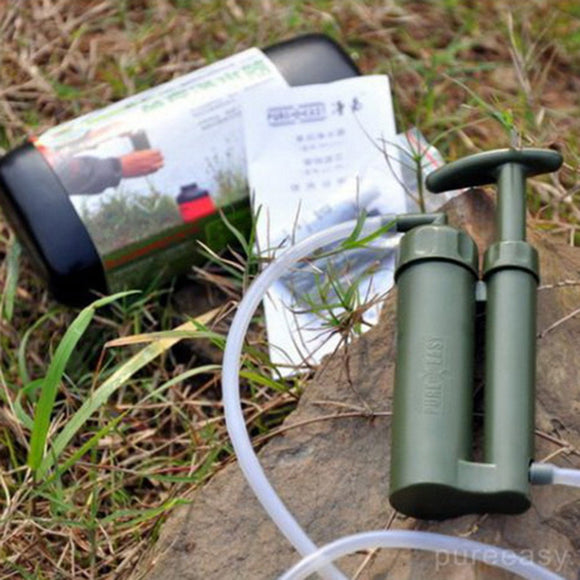 Portable Soldier Water Filter Purifier Cleaner Outdoor Hiking Camping Survival Emergency Free Shipping