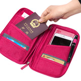 Women Travel Organizer Passport Holder Card Package Credit Card Holder Wallet Document Package Fashion Multi Pockets Card Pack
