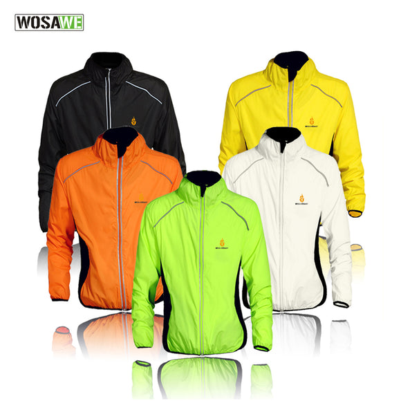 WOSAWE Windproof Cycling Jackets Men Women Riding Waterproof Cycle Clothing Bike Long Sleeve Jerseys Sleeveless Vest Wind Coat