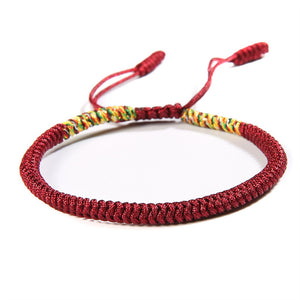 Unisex Handmade Multi Color Tibetan Braided Bracelet