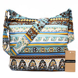 Annmouler Fashion Women Shoulder Bag Bohemian Style Hippie Hobo Bag Double Zipper Bag Sling Crossbody Messenger Bag Large