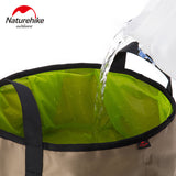 Naturehike 10L Portable Outdoor Round Folding Water Washbasin Camping Picnic Oxford Wash Bucket Bag Ultralight Wash Basin