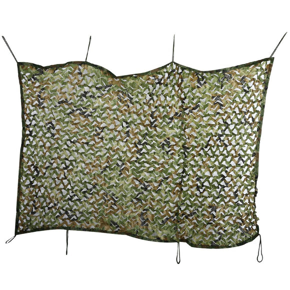 Outlife Hunting Camping Tent 1.5M x 2M Sun Shade Sail  Woodland Military Net Oxford Camouflage Net Double Tent
