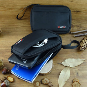 Neoprene Travel Storage Bag for HDD Hard Disk, USB Flash Drives, Cable, U disk, Digital Accessories Organizer Case Pouch
