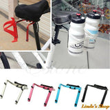 Bike Bicycle Cycling Water Bottle Holder Cage Rack Aluminum Holder Seat Post Back Double Adapter