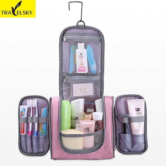 Travelsky Hot Large Capacity Family Travel Organizer Hanging Toilet Makeup Bag Women's Waterproof Handbags Men Cosmetic Bags