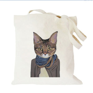Printed 12-ounce Pure Cotton Canvas Tote Bag