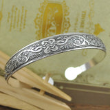 Vintage Style Tibetan Silver Metal Carving Cuff Bracelets & Bangles