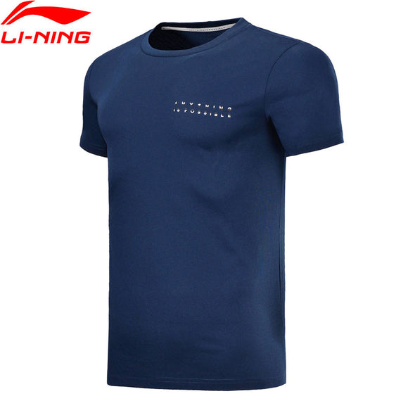 Li-Ning Men's Sports Tees Jersey Comfort 63% Cotton 37% Polyester Breathable  AHSN005 MTS2738