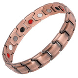 Unisex Red Copper Arthritis Pain Relief High Quality Luxury Magnetic Bracelet
