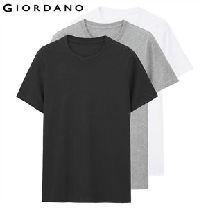 Men's Giordano  Cotton Plain Tees 3-pack