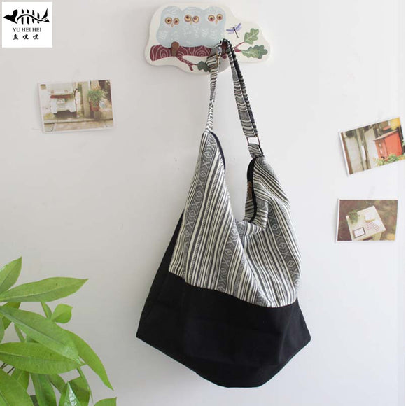 Striped  Bohemian  Fashion  Tote Bag