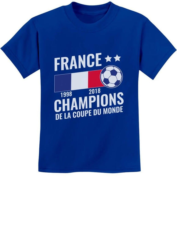 Unisex Cotton Printed France World Cup Champion 2018 Tees