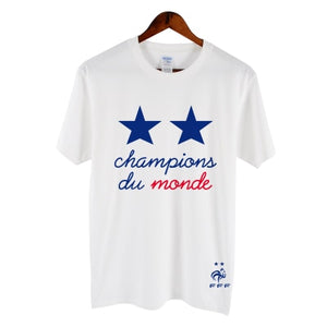 Men's Cotton Printed Tees France 2018 world Champions Parade
