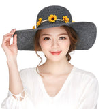 Women's  Summer Sunflower Large Brim  Hat