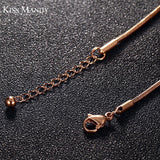 Women's  Top Quality Stainless Steel Rose Gold Fine Anklets