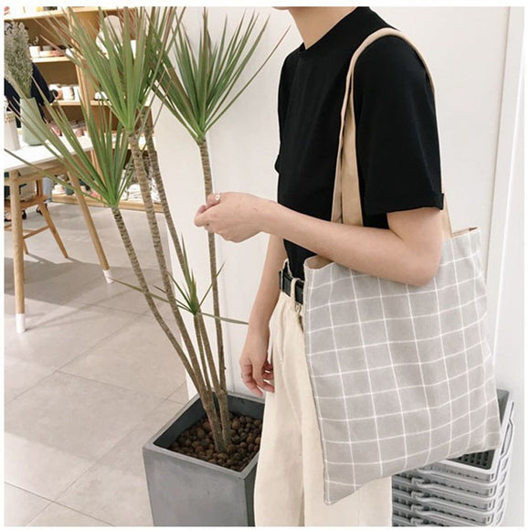 Plaid Casual Tote Bag