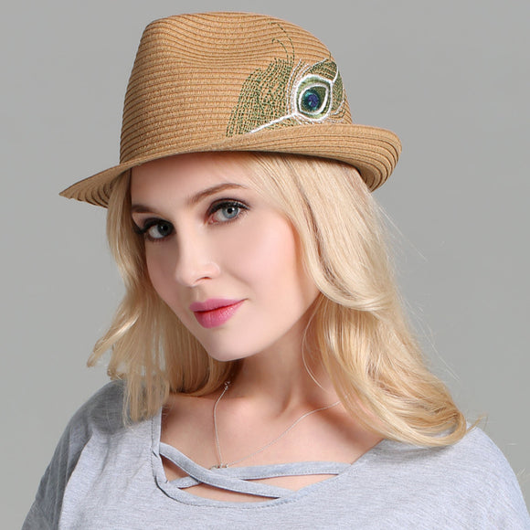 Women's  Summer Panama Fedora Hat