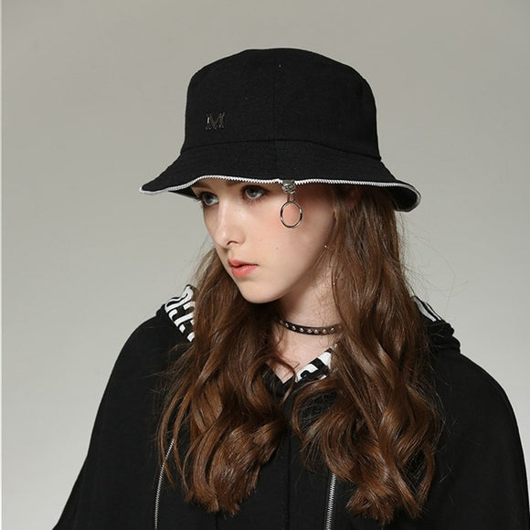 Women's Zipper Bucket Hats