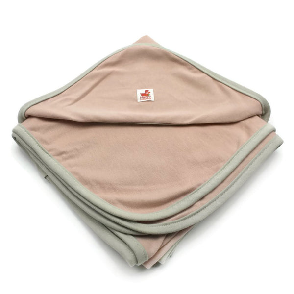 LARA ORGANIC COTTON DOG BLANKET/TOWEL - SALMON PINK