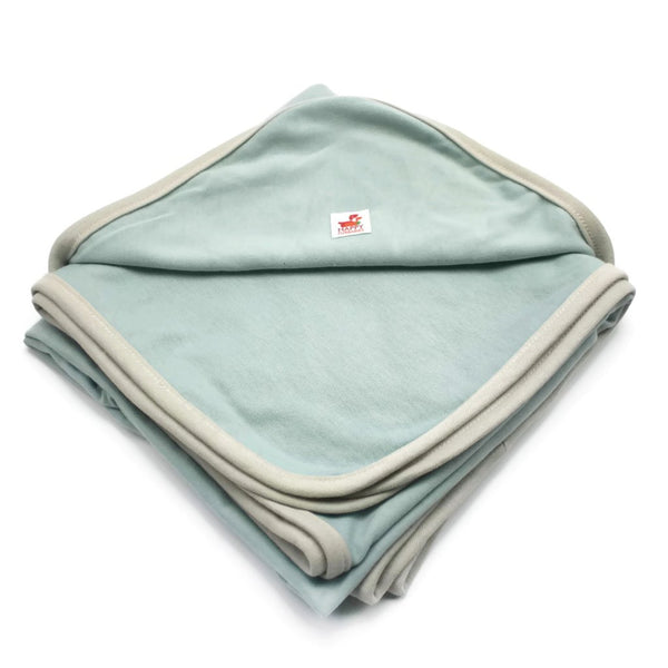 LARA ORGANIC DOG COTTON BLANKET/TOWEL - STONE BLUE