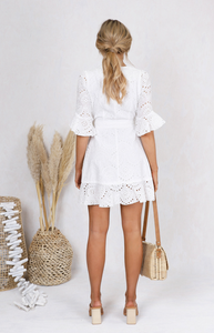 Romi Dress - White, dress Australian Ethical Clothing Label Rare Muse