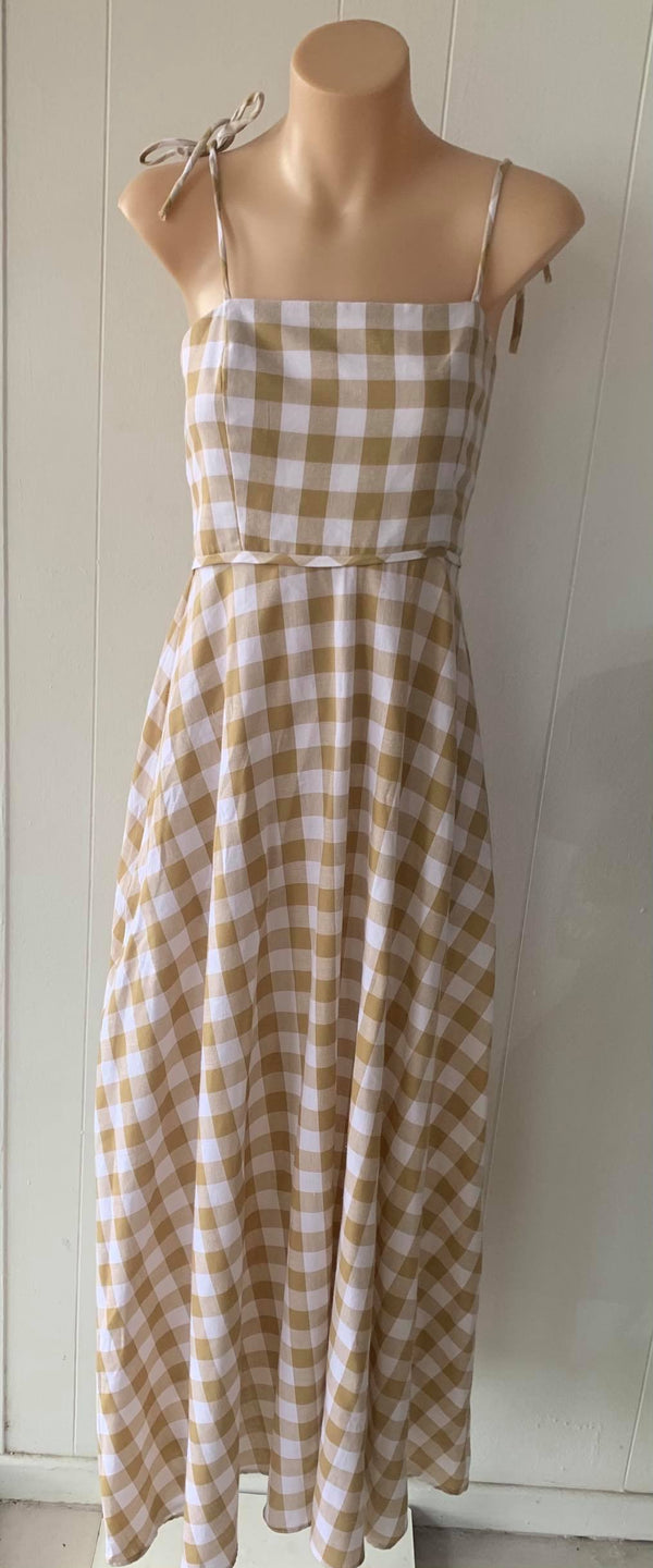 Annette Daley Finlay Dress - Caramel Check