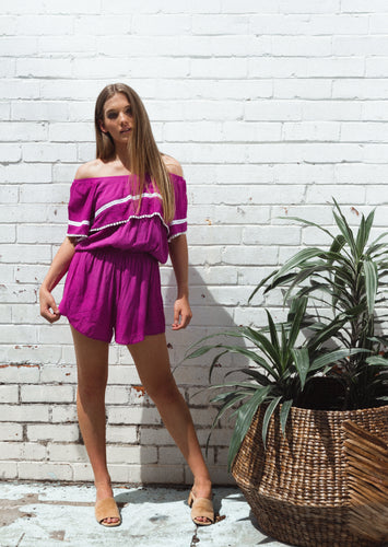 Florida Romper - Orchid, jumpsuit Australian Ethical Clothing Label Rare Muse