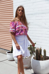 Clementine Wrap Skirt - Linen, skirts Australian Ethical Clothing Label Rare Muse