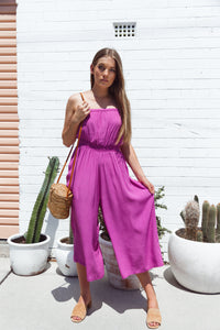 Coco Midi Jumpsuit - Orchid, jumpsuit Australian Ethical Clothing Label Rare Muse