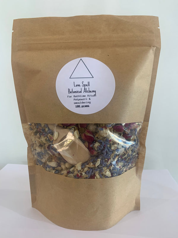 Botanical Alchemy used for cleansing, bath time ritual or potpourri