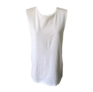 Orlando Tank - White, top Australian Ethical Clothing Label Rare Muse