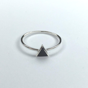 Black Tri Ring, Ring Australian Ethical Clothing Label Rare Muse
