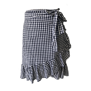 Clementine Wrap Skirt - Gingham, skirts Australian Ethical Clothing Label Rare Muse