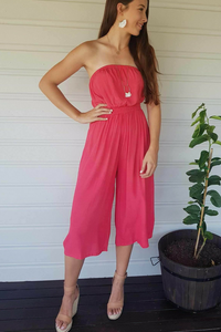 Coco Midi Jumpsuit - Tangelo, jumpsuit Australian Ethical Clothing Label Rare Muse